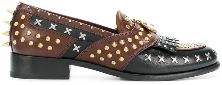 Gucci studded loafers