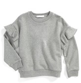 Burberry Girl's Mini Neiman Ruffle Sweatshirt