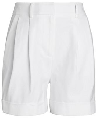 Diane von Furstenberg Shiana Folded-Cuff Shorts