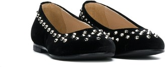 Ermanno Scervino TEEN studded ballerinas