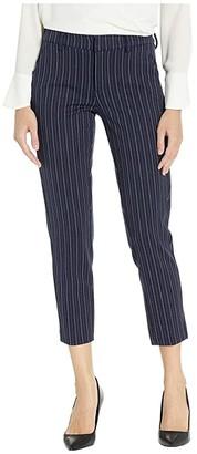 Liverpool Kelsey Trousers in Novelty Stripe Knit (Navy/White Stripe) Women's Casual Pants