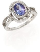 Effy Diamond, Tanzanite & 14K White Gold Ring