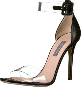 Sarah Jessica Parker Women's Lively Clear Strap Sandal Black Nappa 36 M EU (5.5 US)