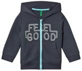 Benetton Dark Grey Feel Good Zip Hoodie