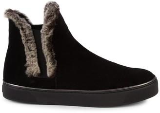 Stuart Weitzman Winter Suede & Faux Fur-Trim Ankle Boots