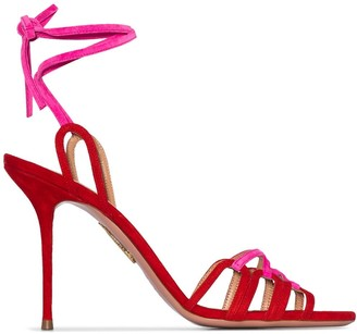 Aquazzura Azur two-tone strappy sandals