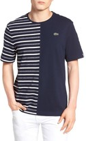 Lacoste Men's L!ve Stripe Block T-Shirt
