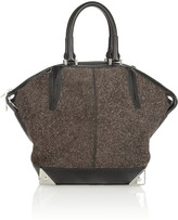 Alexander Wang Emile leather-trimmed fleece-suede tote