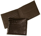 Trafalgar Men's Genuine Alligator Wallet - Brown