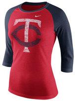 Nike Women's Minnesota Twins Tri Logo Raglan T-Shirt