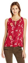 BB Dakota Women's Alton Cherry Blossom Floral Printed Tank Top