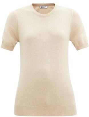 Johnstons of Elgin Cashmere Short-sleeved Sweater - Beige