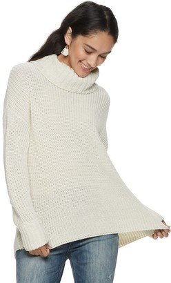 American Rag Juniors' Turtle Neck Lace Up Back Top