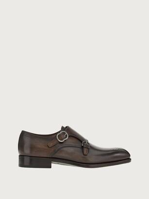 Salvatore Ferragamo Men Double monk strap shoe Brown Size 7