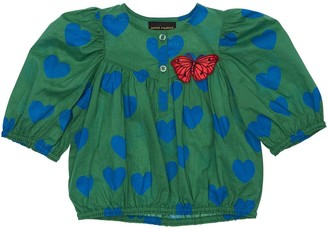 Mini Rodini Heart Print Organic Cotton Shirt