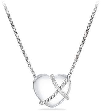 David Yurman Le Petit Coeur Sculpted Heart Chain Necklace With