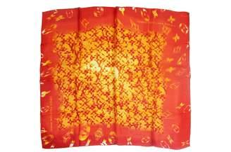 Louis Vuitton Orange Silk Silk handkerchief