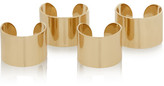 Set of four gold-tone rings