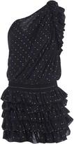 Saint Laurent One-sleeve Embellished Dress