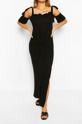 boohoo Cold Shoulder Maxi Dress