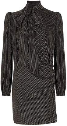 Marc Jacobs The Disco striped metallic-weave mini dress