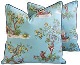 One Kings Lane Vintage Scalamandré Chinoiserie Pillows