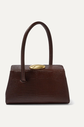 Little Liffner - Baby Boss Lizard-effect Leather Tote - Brown