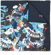Kenzo graphic print scarf