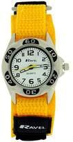 Ravel Boys Quartz Dial Black & Yellow Velcro Boys Watch R1507.49