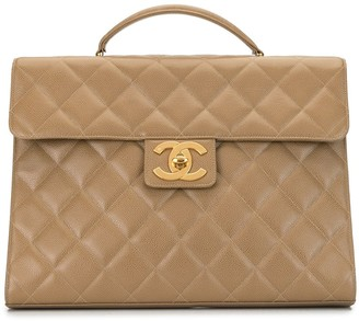Chanel Pre Owned 1995 Diamond Quilted Briefcase