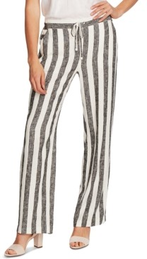 Vince Camuto Striped Drawstring Pants, In Regular and Petite