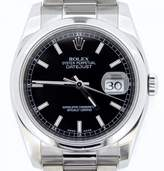 Rolex 116200 Stainless Steel Datejust Black w/Oyster Band New Style Watch