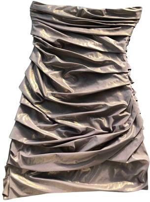Maje Gold Cotton - elasthane Dresses