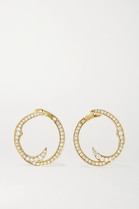 Stephen Webster + Net Sustain Thorn Stem 18-karat Recycled Gold Diamond Hoop Earrings - one size