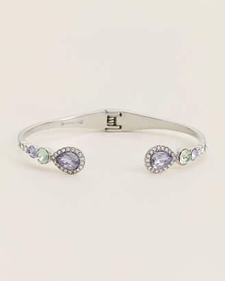 Givenchy Rhodium-Tone & Pastel Hinged Cuff Bracelet