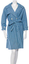 Steven Alan Long Sleeve Striped Trench Coat w/ Tags