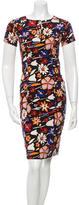 Suno Printed Knee-Length Dress