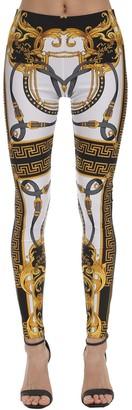 Versace Printed Stretch Jersey Leggings
