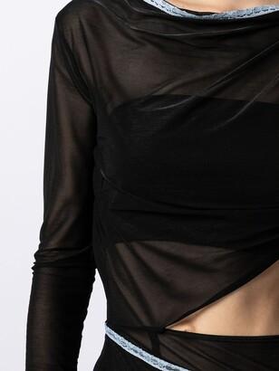 Supriya Lele Cut-Out Asymmetric Midi Dress