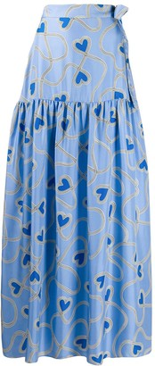 Chinti and Parker Heart Print Full Skirt