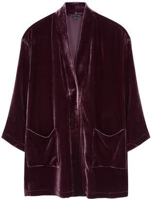 Eileen Fisher Plum Velvet Kimono