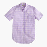 Thomas Mason for J.Crew short-sleeve Ludlow shirt in violet gingham