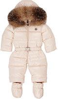 Moncler Fur-Trimmed Down Snowsuit-WHITE