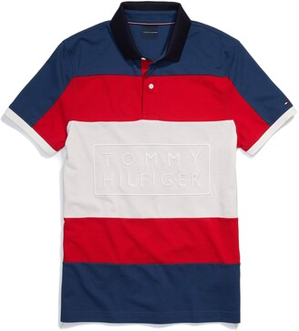 Tommy Hilfiger Men's Adaptive Polo Shirt Custom Fit with Magnetic Buttons