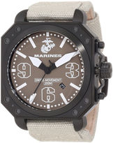 JCPenney WRIST ARMOR Wrist Armor C4 Mens US Marine Corps Stainless Steel Swiss Quartz Watch