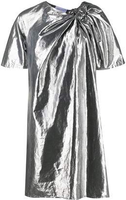 Christian Wijnants Metallic-Effect Flared Dress