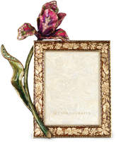 "Jay Strongwater Brocade Floral 3"" x 4"" Frame"