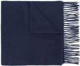 Mulberry embroidered logo lambswool scarf