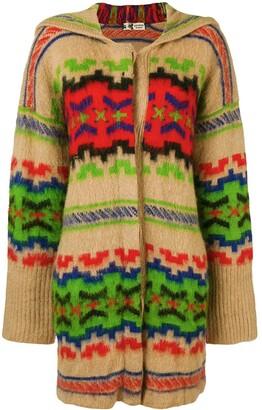 Kansai Yamamoto Pre Owned Pattern Hooded Cardigan
