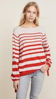 Autumn Cashmere Ombre Stripe Balloon Sleeve Sweater
